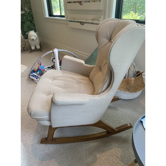Anthropologie Anthropologie Finn Rocking Chair For Sale - Image 4 of 7