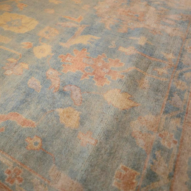 """Mansour Quality Handwoven Oushak Rug - 8'2"""" X 9'10"""" For Sale In Los Angeles - Image 6 of 7"""
