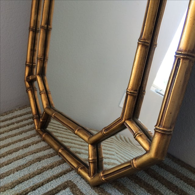 Vintage Gold Bamboo Mirror - Image 4 of 10