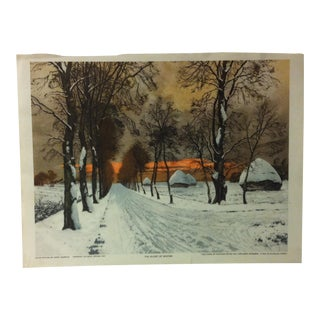 "Vintage Color Print on Paper, ""The Glory of Winter"" by Henri Jourdain - 1925 For Sale"