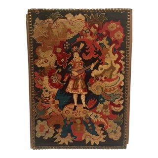 19th Century Antique Needlepoint Tapestry For Sale