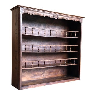 Rustic Bookcase/Plate Rack For Sale