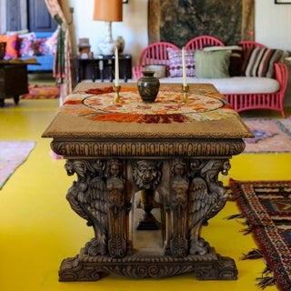 1850's Ornately Carved Mahogany Table Preview