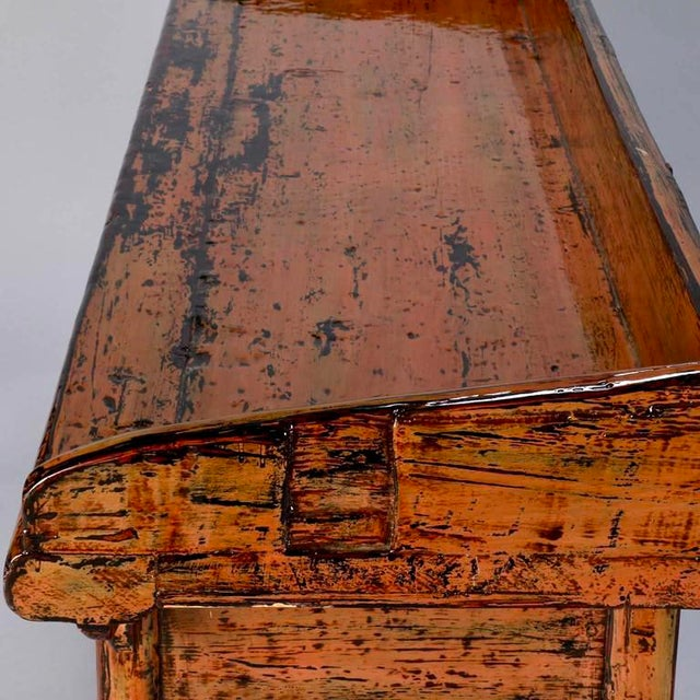 Chinese Painted and Lacquered Three-Drawer Console Table For Sale - Image 10 of 11