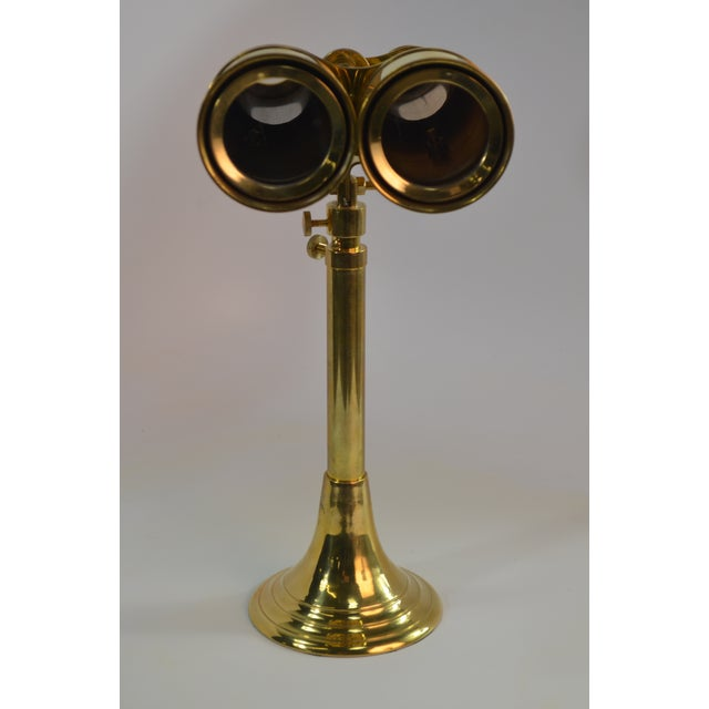 American Bungalow 5 Niels Brass Binoculars With Stand For Sale - Image 3 of 9