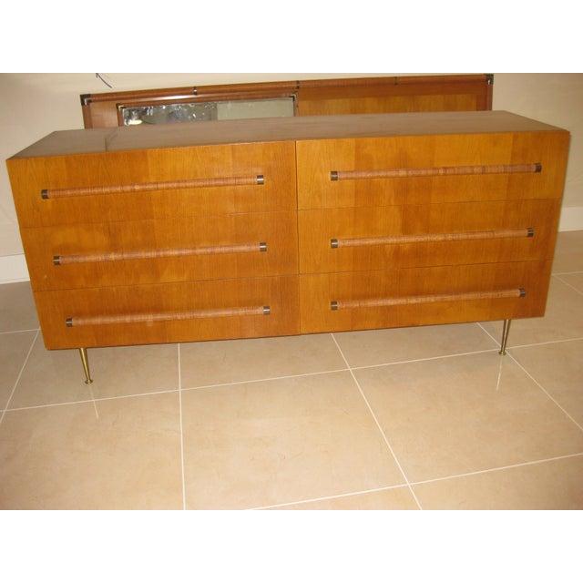 1950 Mid-Century T.H. Robsjohn-Gibbings Double Dresser - Image 8 of 10