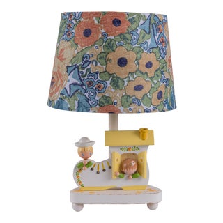 Madcap Cottage Children's Nursery Rhyme Table Lamp With Shade For Sale