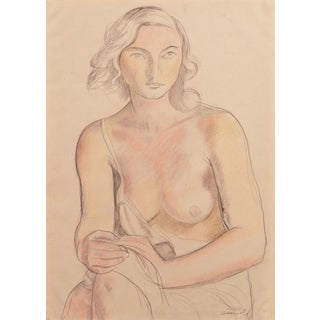 'Young Woman Seated' by Ralph Stackpole, Circa 1935; Ecole Des Beaux Arts, Bay Area, New York Art Students League For Sale