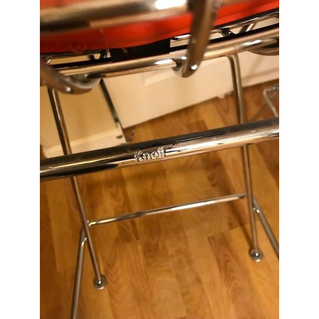 Knoll Bertoia Chrome Bar Stools - A Pair For Sale In Seattle - Image 6 of 7