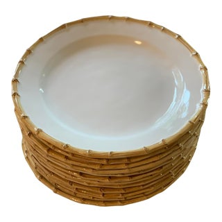 Bamboo Dinner Plates - Set of 12 For Sale