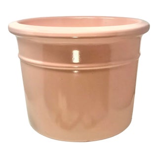 Vintage Mid Century Modern Gainey Style Ceramics Pink Planter Pot For Sale