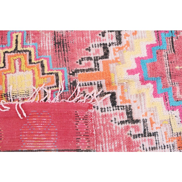 """Boujad Vintage Moroccan Rug -- 5'11"""" x 8'2"""" For Sale - Image 4 of 4"""