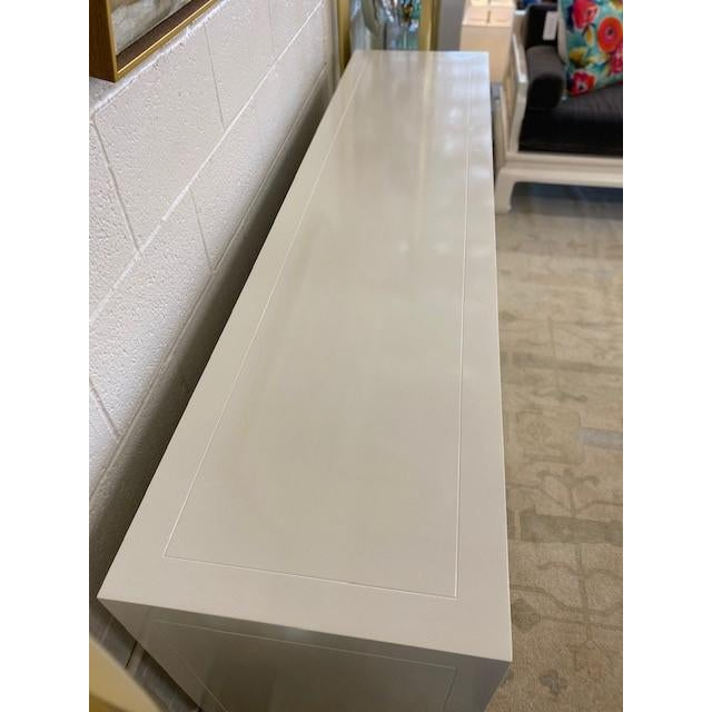 Henredon Chinoiserie Painted White Credenza For Sale - Image 9 of 10