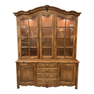 Ethan Allen French Inspired Display Cabinet For Sale