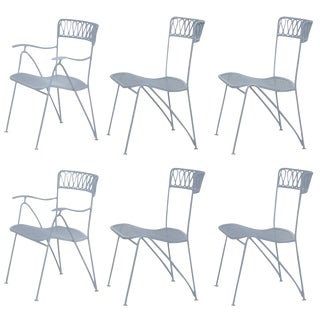 Outdoor Indoor Dining Chairs by Maurizio Tempestini for Salterini - Set of 6 For Sale