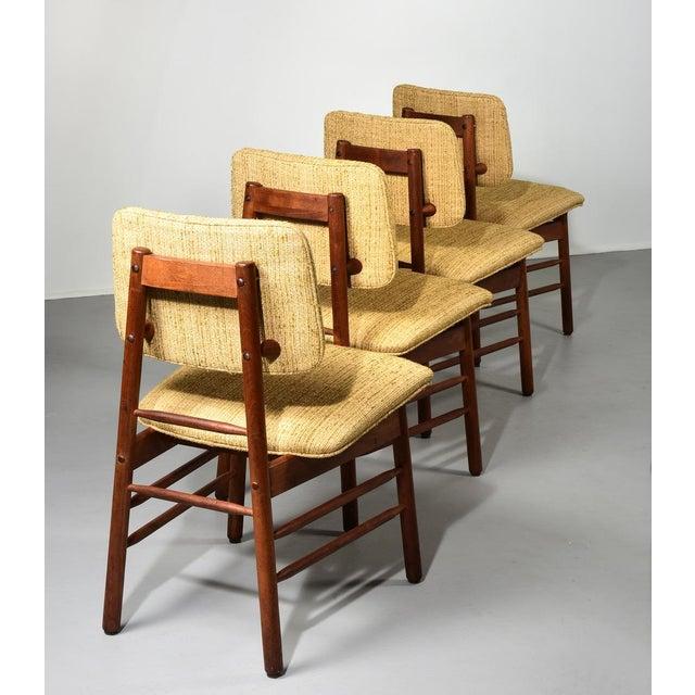 Greta Magnusson-Grossman Chairs, Model 620, set of four original to set Designed for Glenn of California made in 1952, USA...