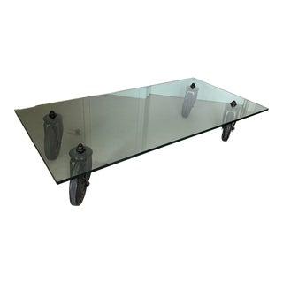 1980s Contemporary Gae Aulenti for Fontana Arte Tavolo Con Ruote Low Table For Sale