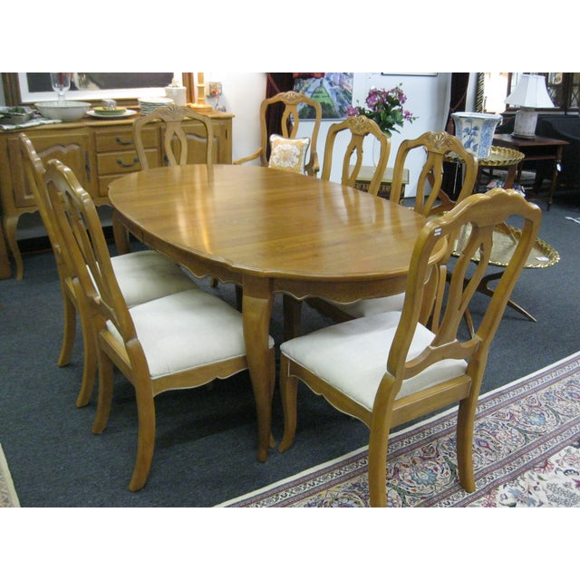 Ethan Allen French Country Dining Set - Image 2 of 8