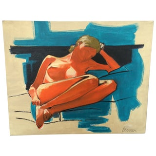 "Ferreira ""Lounging Lady"" Painting"