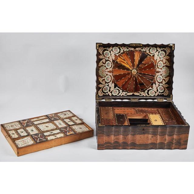 1882 King Ebony Inlaid Presentation Box For Sale - Image 9 of 11