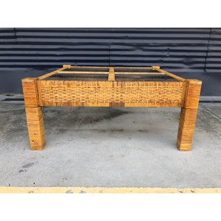 Vintage Wrapped Rattan Billy Baldwin Style Coffee Table Preview