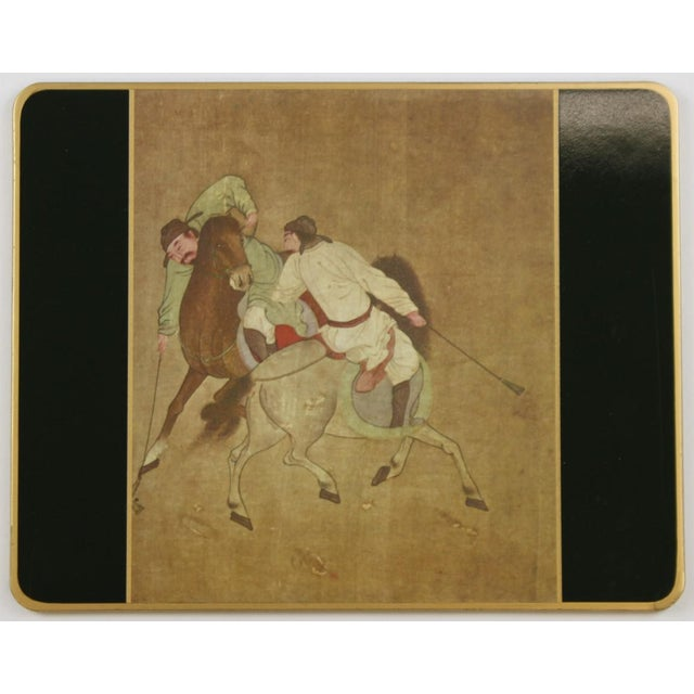 Asian Set of (10) Ming Polo English Scully & Scully Park Ave Plate Mats!~ For Sale - Image 3 of 7