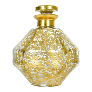 Antique French 24k Gold Design Perfume Bottle