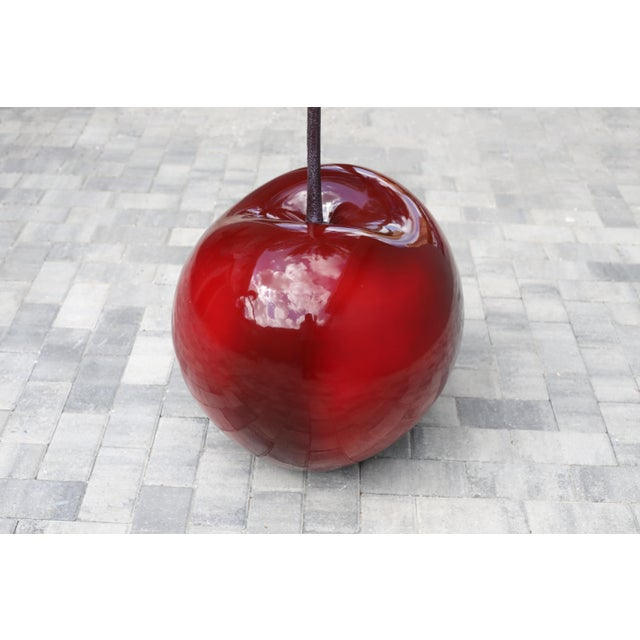 Figurative Monumental 4.5 Foot Tall Red Cherry Sculpture Pop Art For Sale - Image 3 of 10