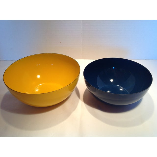 Blue Rare Catherineholm Yellow & Blue Bowls - a Pair For Sale - Image 8 of 8