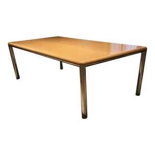 Milo Baughman Style Mid Century Modern Dining Table 8 Ft. For Sale