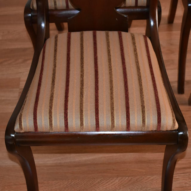 19th Century Antique Empire Solid Mahogany Dining Room Chairs- 6 Pieces For Sale - Image 10 of 13