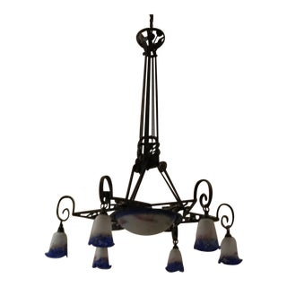 French Anitque Iron Chandelier