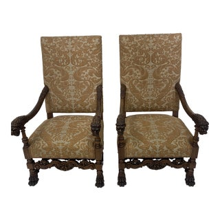 Late 19th Century French Louis XVII Chairs- A Pair For Sale