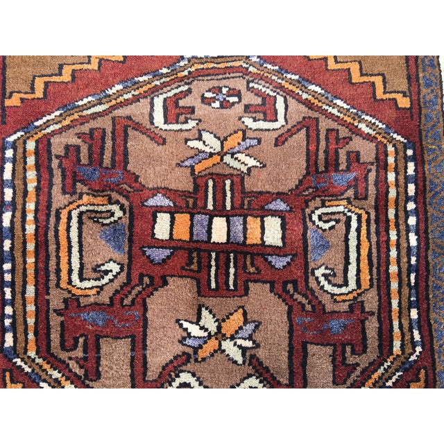 Thick and Heavy and Hearty Persian Kourdish Rug - 3′5″ × 6′5″ - Image 6 of 9