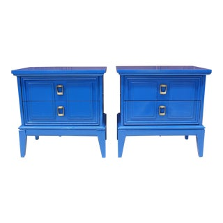 Mid Century Modern Dixie Side Tables / Nightstands/ End Tables a Pair For Sale