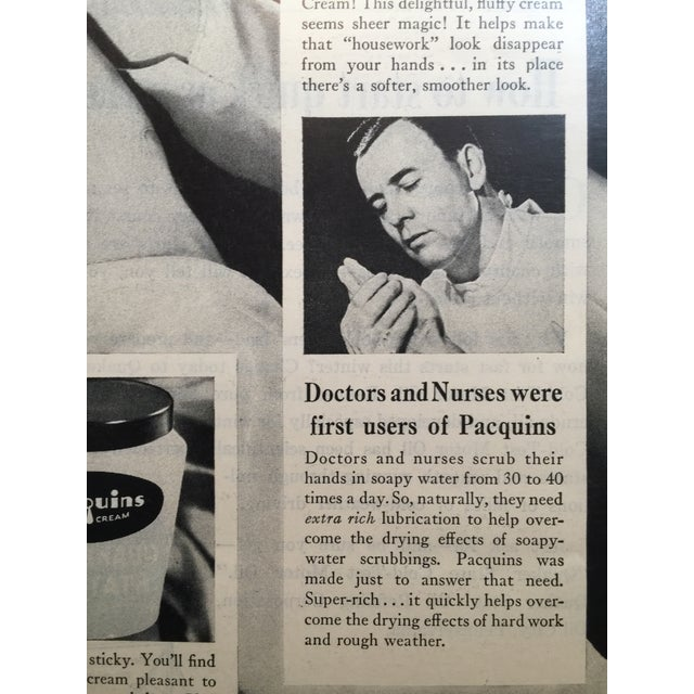 1946 Vintage Paquin's Hand Cream Ad - Image 3 of 4