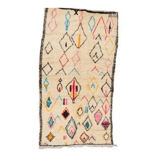 1990s Vintage Moroccan Berber Azilal Rug - 4′7″ × 8′1″ For Sale