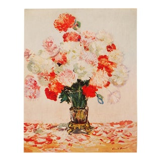 "1930s Claude Monet, Rare Original ""Fleurs"" Lithograph For Sale"