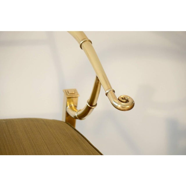 Pair of Brass Lounge Chairs by Mastercraft - Image 6 of 6