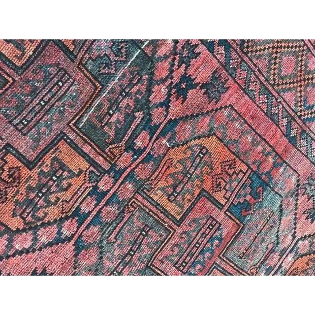 Vintage Handwoven Afghan Rug - 8′ × 10′6″ - Image 7 of 9