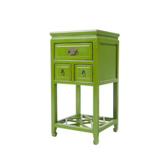 Green Lacquered Side Table For Sale