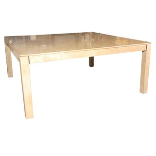 Large Square Parchment Table by Karl Springer For Sale