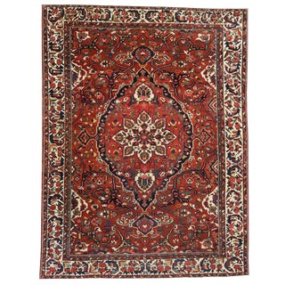 1930s Antique Persian Bakhtiari Colonial and Federal Style Area Rug - 13′2″ × 17′4″ For Sale