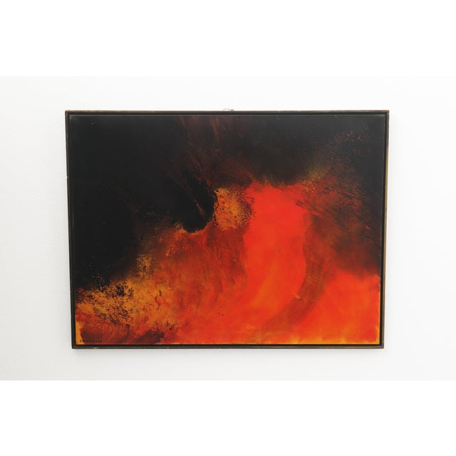 1960s 1960s Vintage John Popovic Abstract Painting For Sale - Image 5 of 5