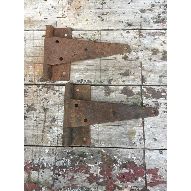 Antique Barn Door Hinges For Sale - Image 6 of 7