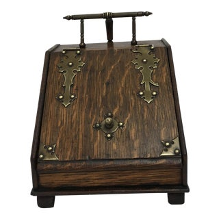 English Victorian Coal Hod Tea Caddy