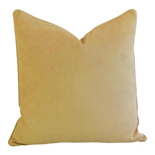 """Large Rich Ultra Soft Golden Velvet Feather/Down Pillow 24"""" Square"""