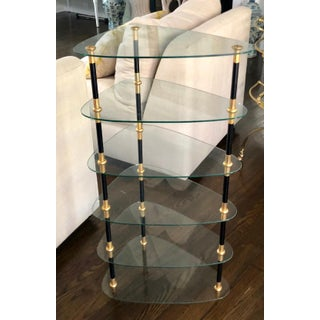 Rare Maison Jansen Black & Gold Etagere Whatnot Table Preview
