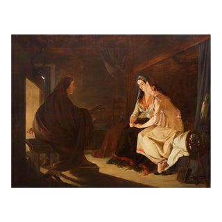 """19th Century Antique Painting """"The Fortune Teller"""" by Henry Nelson O'Neil a.r.A. For Sale"""