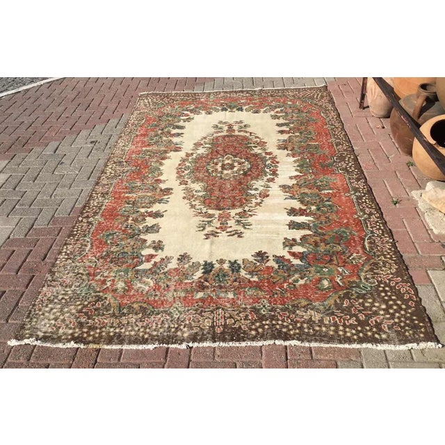 Vintage Hand Knotted Turkish Rug For Sale - Image 11 of 11